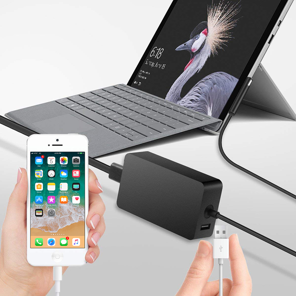 Power Supply Charger Adapter - Microsoft Surface Pro 6 / 5